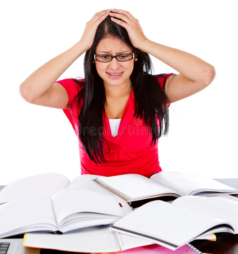 Frustrated female student