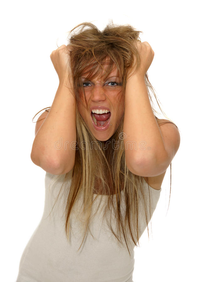 Frustrated Girl Stock Photography