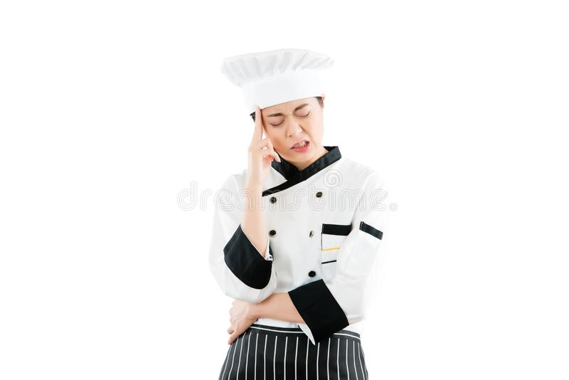 Nervous Chef Male Gesticulate Stock Image Image Of