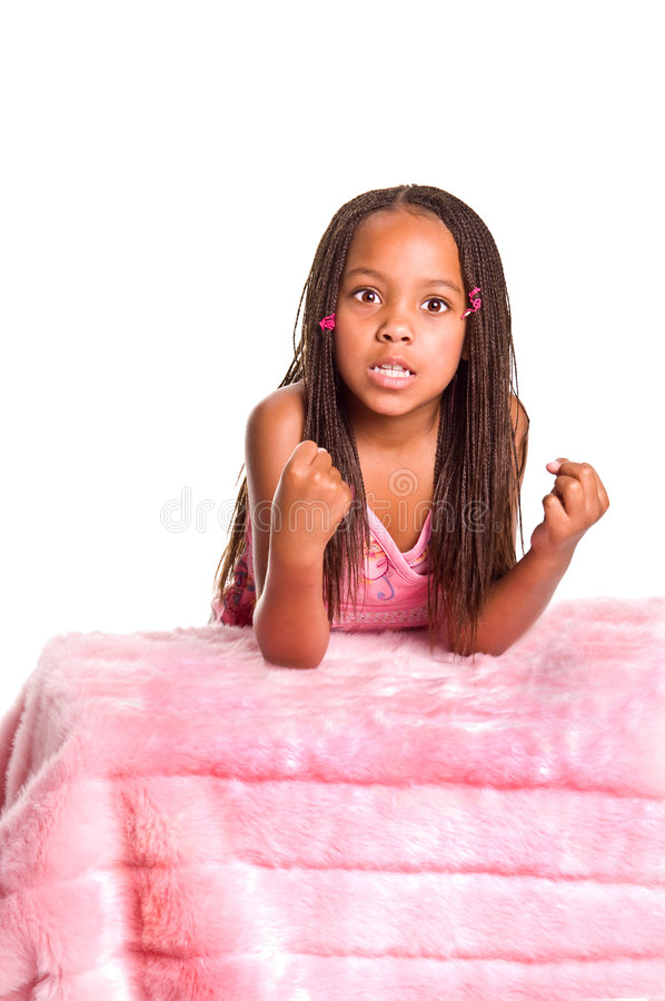 Download Frustrated Little Girl With Braids Stock Photo - Image: 6223308