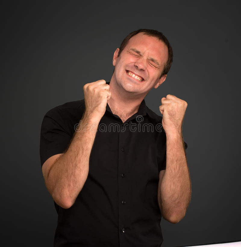 Frustrated man stock image