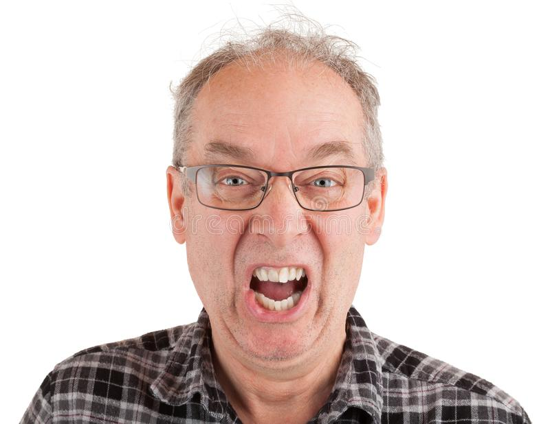 Man is Shouting Something royalty free stock images