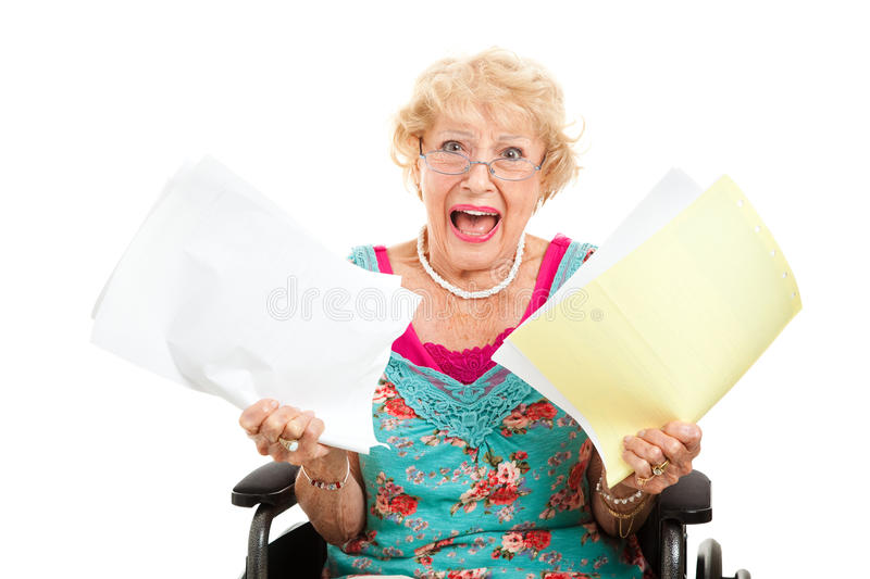 Frustrated By Medical Bills Stock Photos