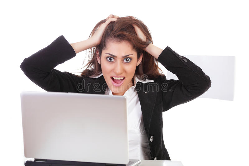 Download Frustrated office girl stock photo. Image of formal, cute - 23791208