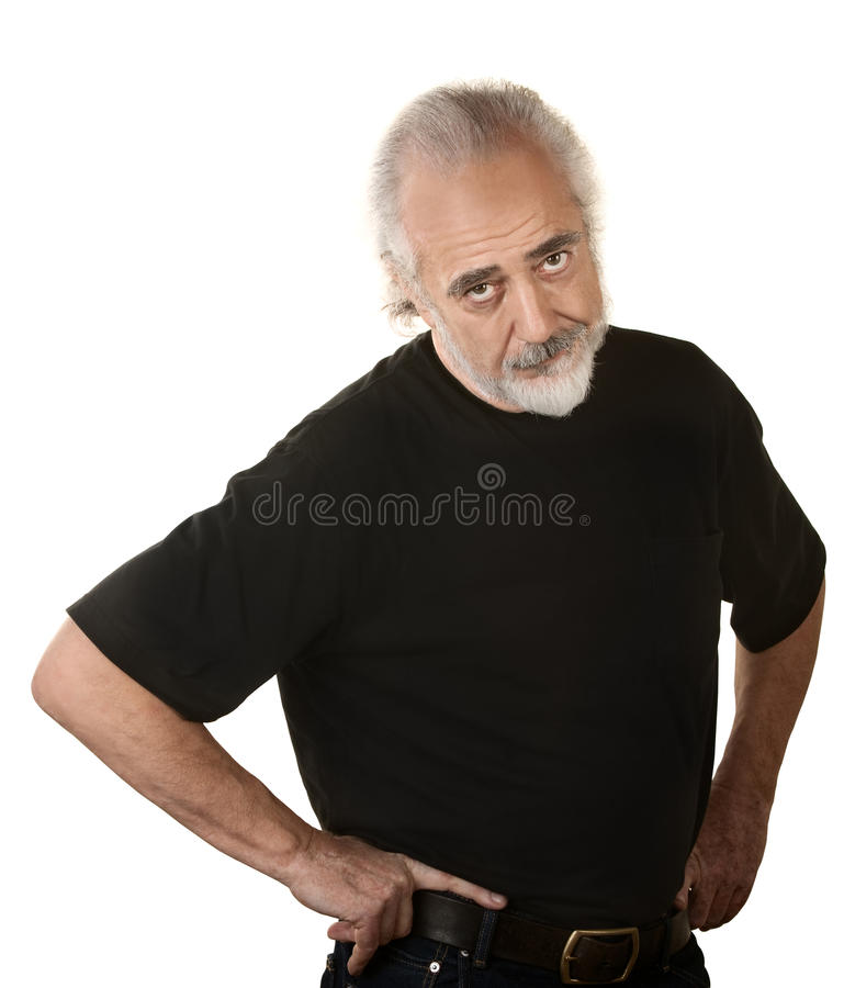 Download Frustrated Older Man stock image. Image of mustache, aged - 27768141