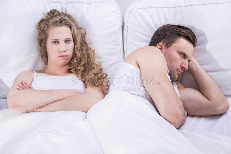 Frustrated pair having problem. Image of angry and frustrated pair having relationship problem stock photo