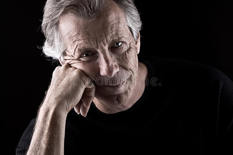 Frustrated Senior Male stock photo