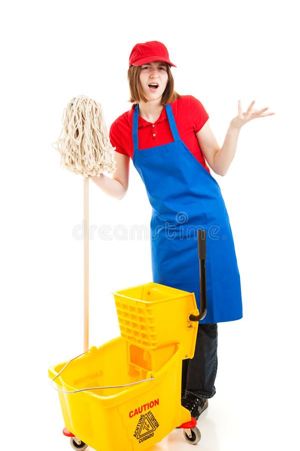 Download Frustrated Teenage Worker stock image. Image of isolated - 26092227