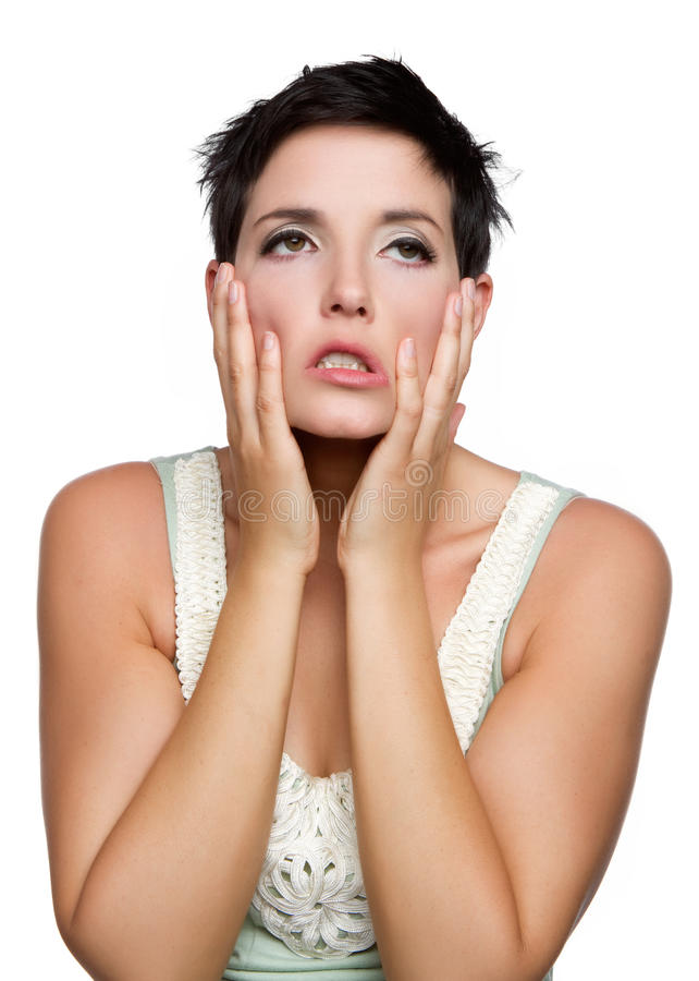 Frustrated Upset Woman stock photos