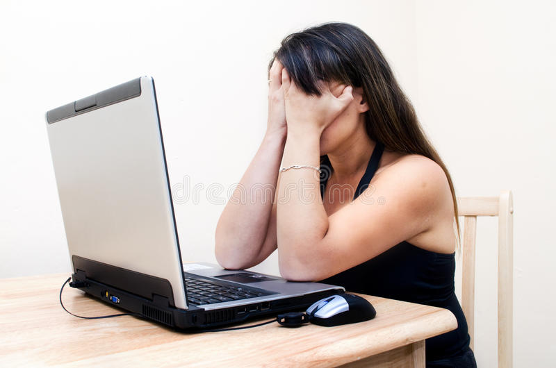 Download Frustrated Woman stock image. Image of stress, service - 24842139
