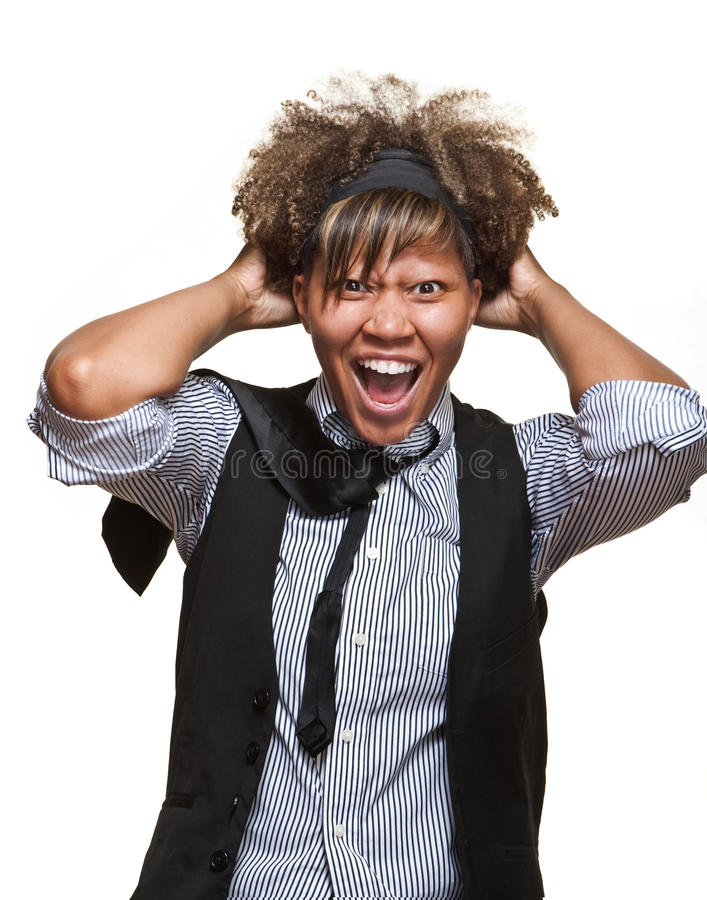Frustrated Young African Woman royalty free stock photo