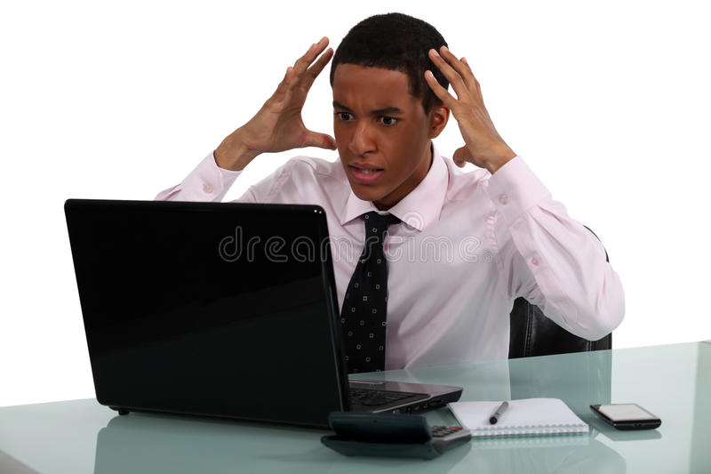 Download Frustrated Young Businessman Stock Photo - Image: 33677388