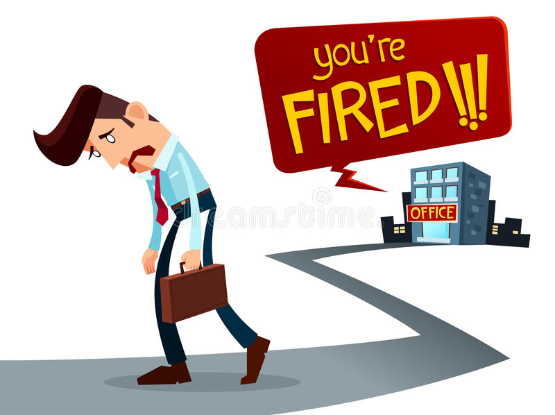 Frustrated young worker vector illustration
