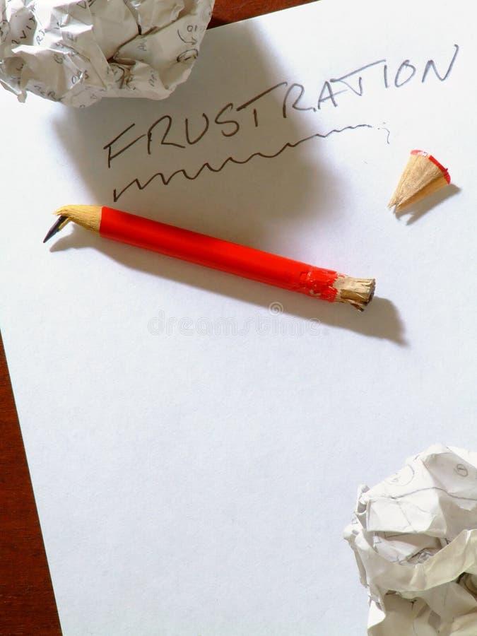 Frustratie /B stock foto