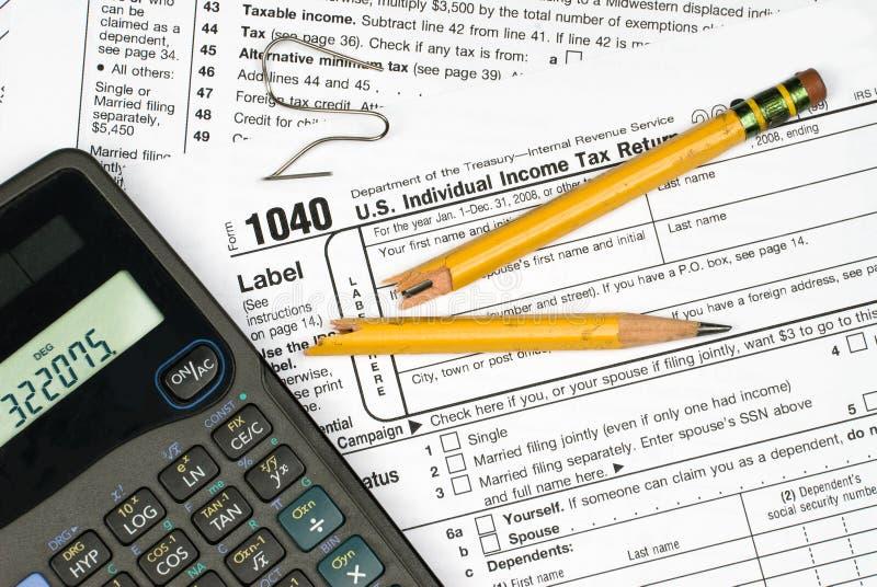Frustratie om belastingen in te dienen royalty-vrije stock afbeelding