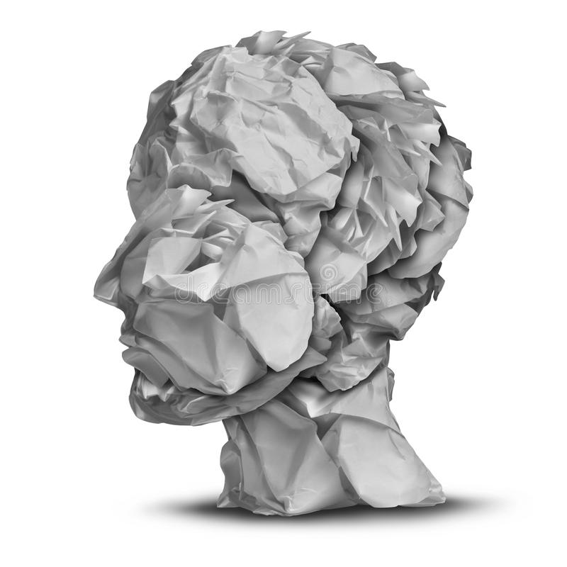 Frustration humaine illustration stock
