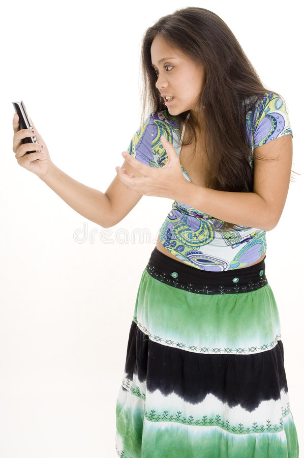 Frustrazione del telefono fotografie stock libere da diritti