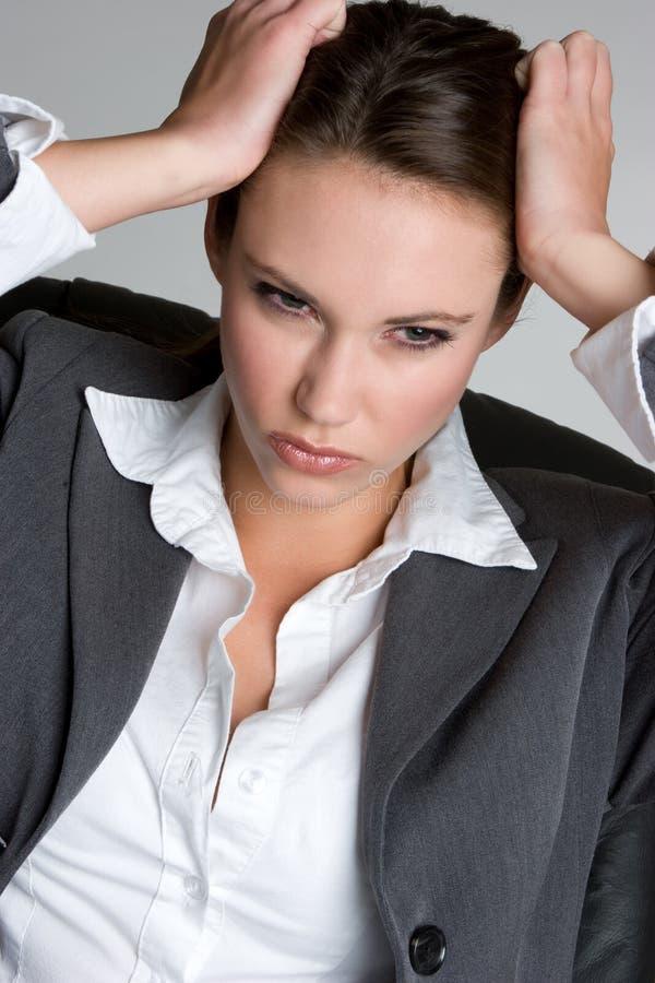frustrerad affärskvinna royaltyfri bild