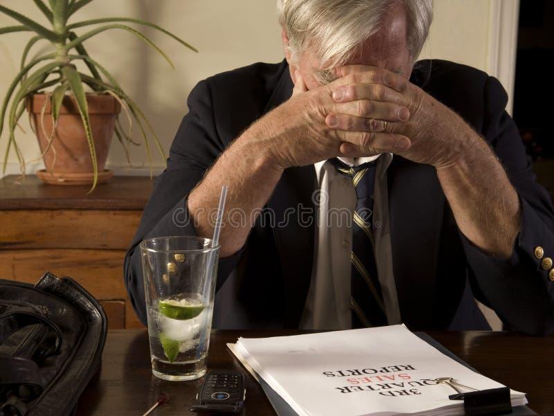 frustrerad affärsman royaltyfri foto