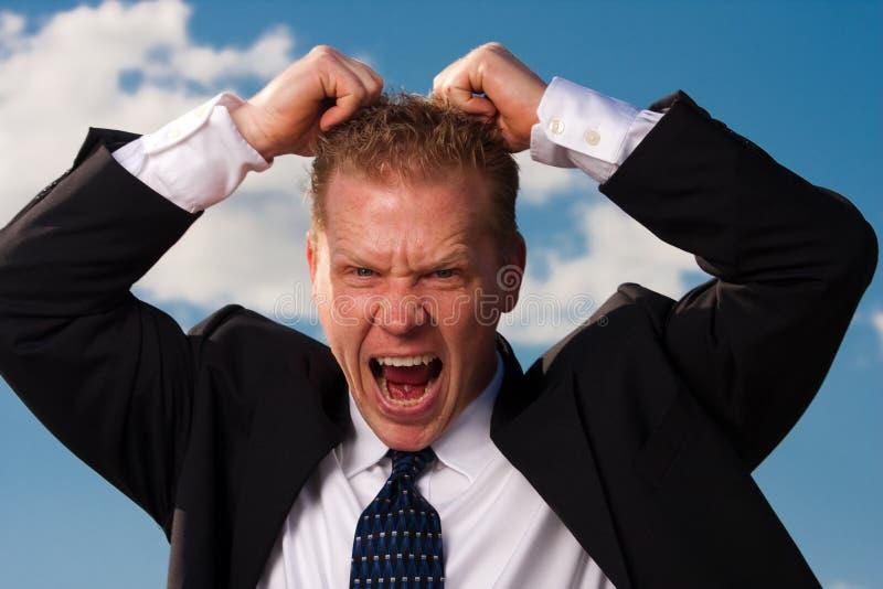 frustrerad affärsman arkivbild