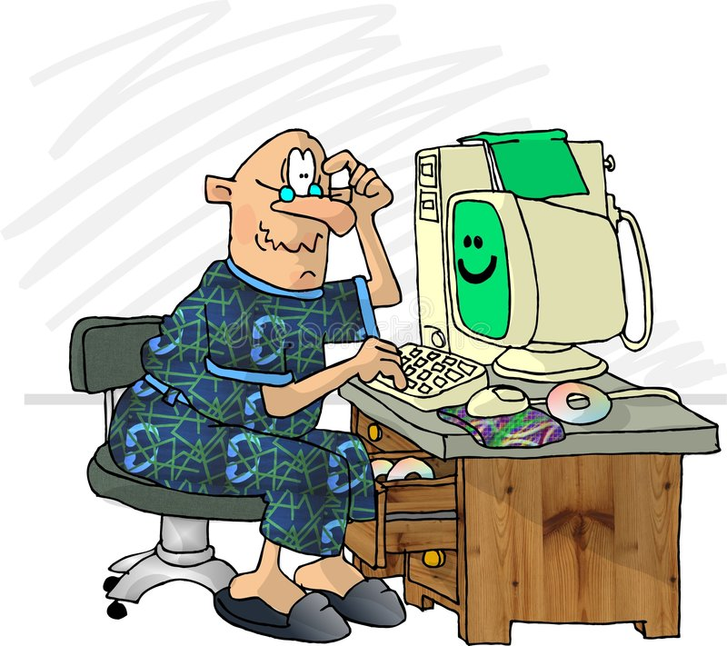 frustrerad användare för dator royaltyfri illustrationer