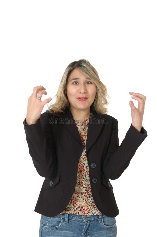 frustrerad kvinna royaltyfri bild