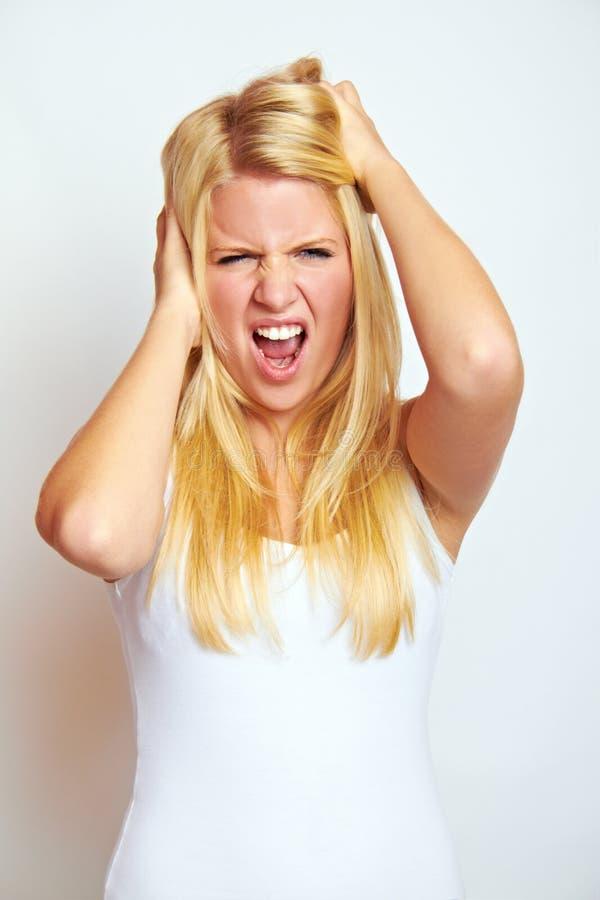 frustrerad kvinna fotografering för bildbyråer
