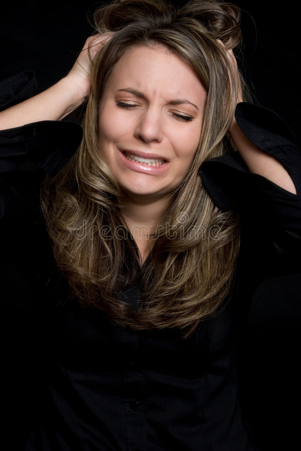 frustrerad kvinna royaltyfria foton