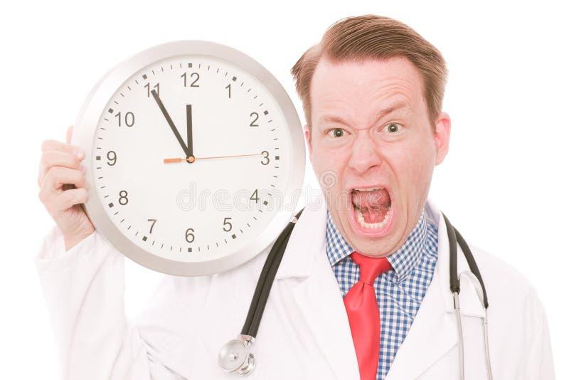 Frustrierende medizinische Zeit lizenzfreies stockbild
