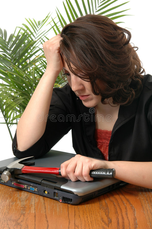 Frustrierte Frau stockbild