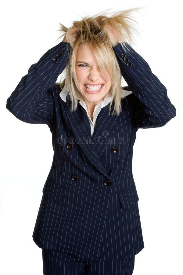 Frustrierte Geschäftsfrau stockbilder