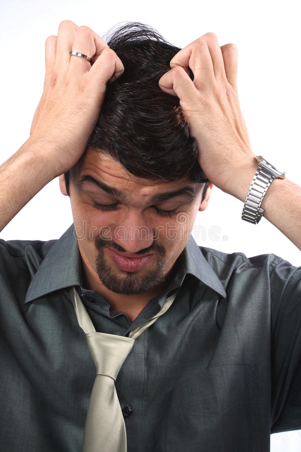 Frustrierter Geschäftsmann stockbild