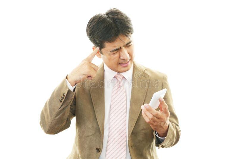 Frustrierter Geschäftsmann stockbilder
