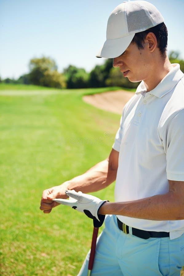 Frustrierter Golfspieler lizenzfreie stockfotos