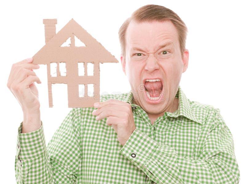 Frustrierter Hauseigentümer lizenzfreie stockfotos