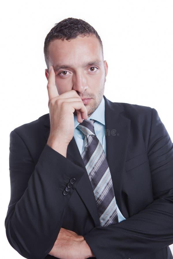Frustrierter junger Geschäftsmann lizenzfreie stockfotos