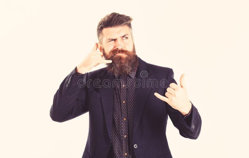 Frustrierter Mann des lustigen Gesichtes, schlechter Service, technische Probleme mit Telekommunikation und Telefonen und schlech lizenzfreies stockbild
