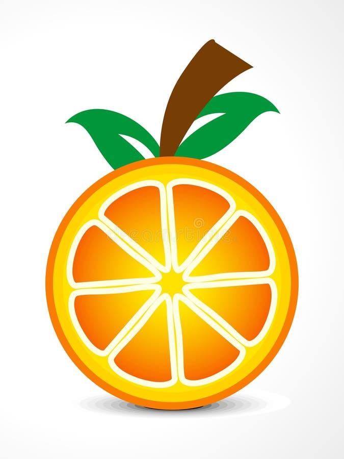 Fruta abstrata da laranja do vetor ilustração royalty free