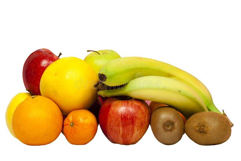 Fruta aislada en el fondo blanco colección fotografía de archivo