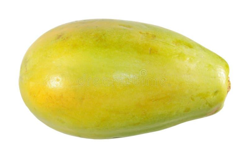 Fruta amarilla de la papaya aislada en el fondo blanco foto de archivo libre de regalías