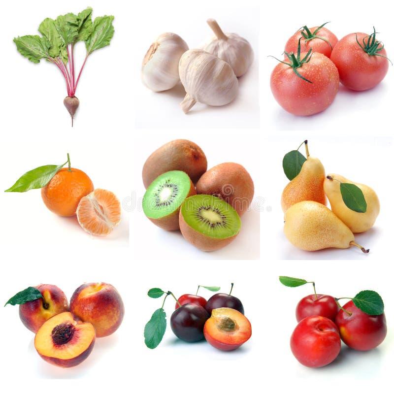 Fruta & vegetais imagem de stock royalty free