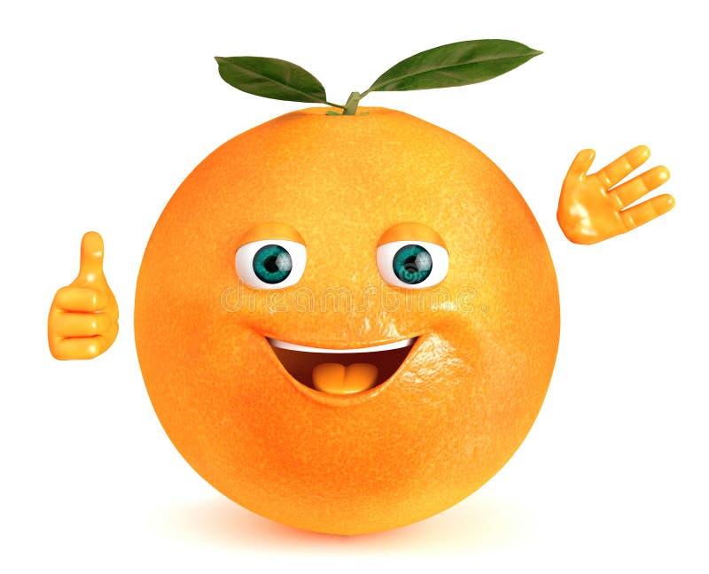 Fruta anaranjada ilustración del vector