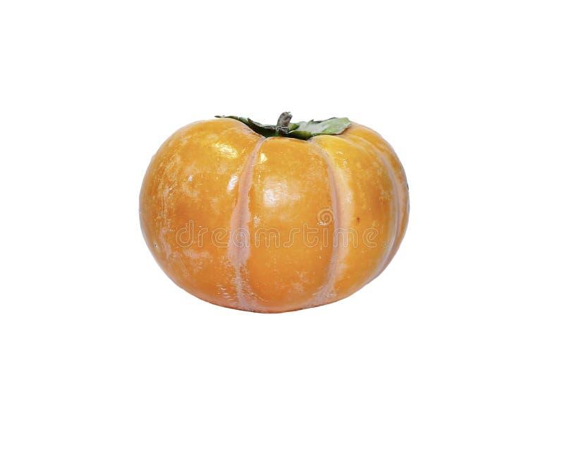 Fruta anaranjada jugosa del caqui aislada fotografía de archivo libre de regalías