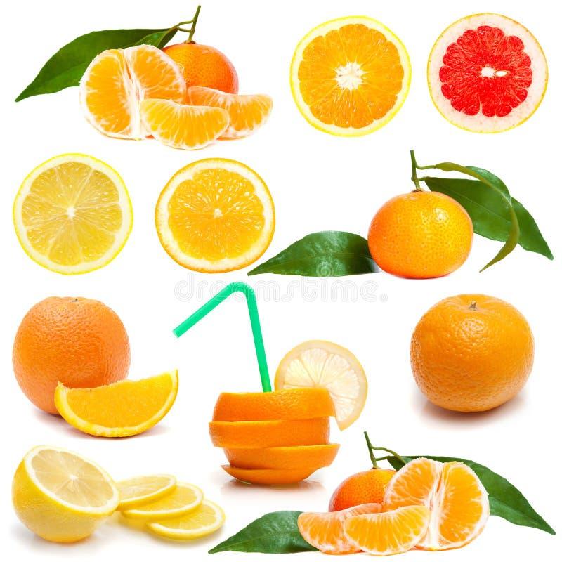 Fruta cítrica fresca en blanco imágenes de archivo libres de regalías