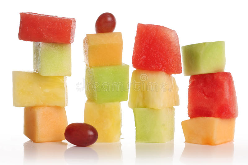 Fruta cortada imagens de stock