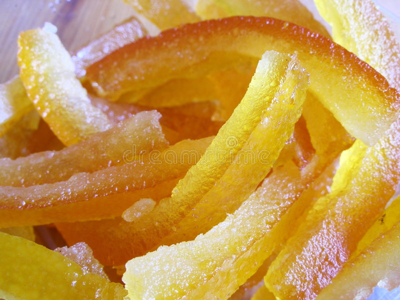 Fruta cristalizada foto de archivo