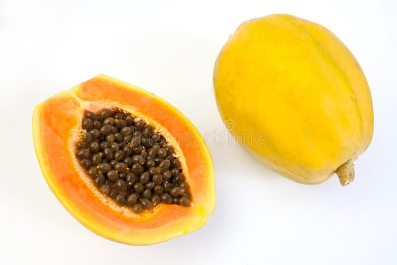 Fruta da papaia imagens de stock royalty free