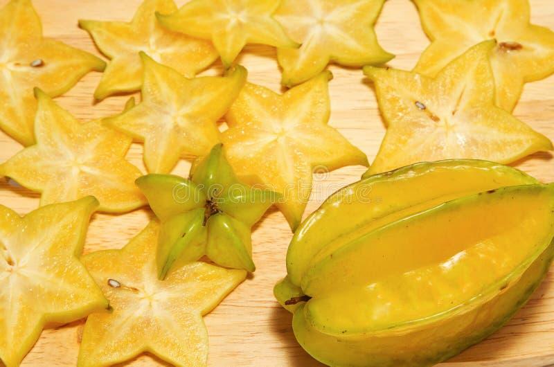 Fruta de estrela, fatia do carambola imagem de stock