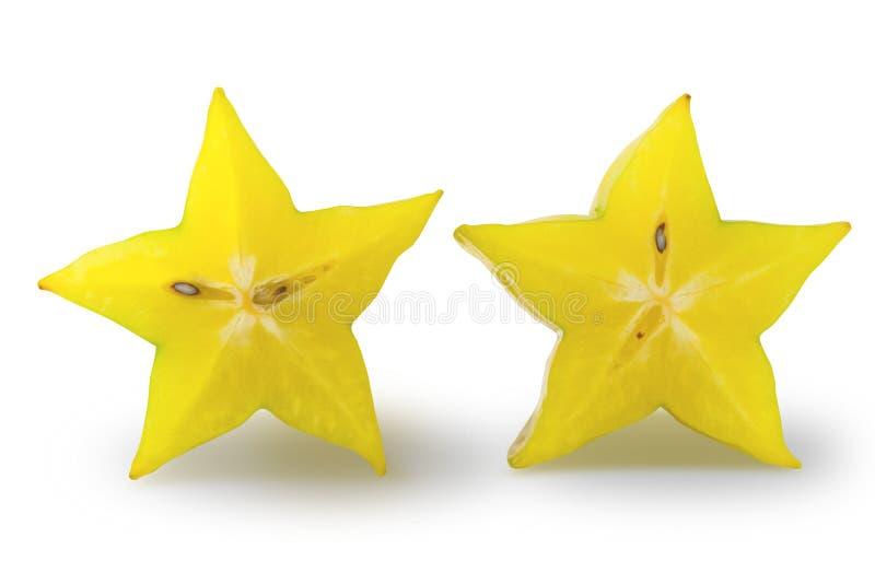 Fruta de estrella aislada fotografía de archivo