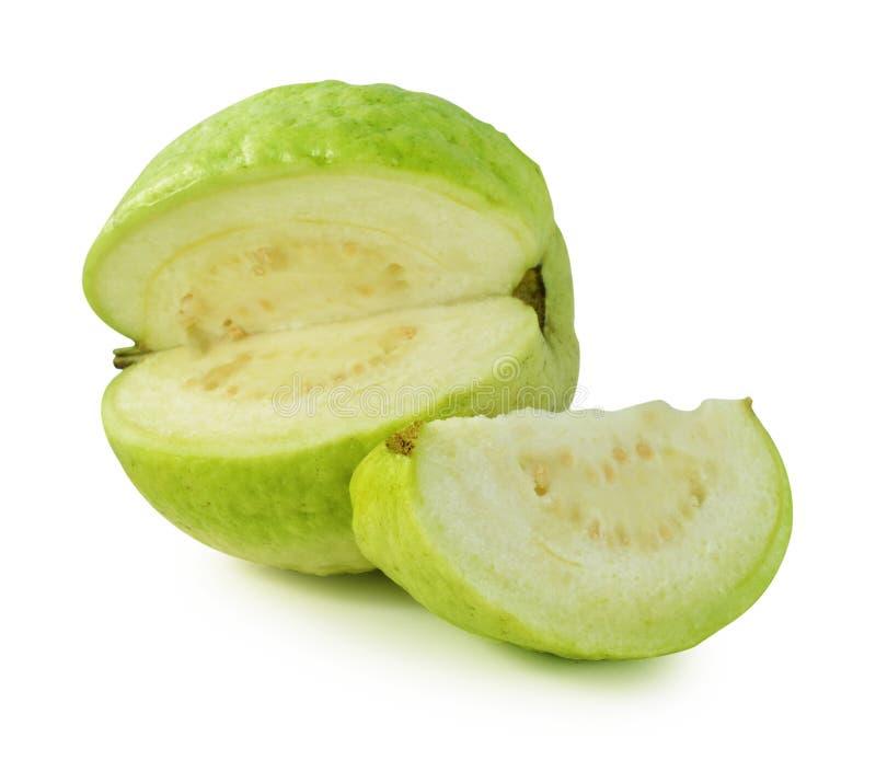 Fruta de guayaba en el fondo blanco fotografía de archivo libre de regalías